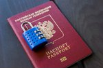 Russian passport locked to...
