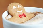 Gingerbread cookie man in a hot ...