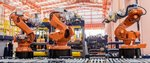 Industrial welding robots in...