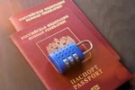 Two russian passports and lock...