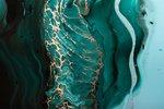 Acrylic fluid art. dark green...