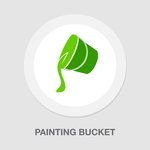 Painting bucket icon  vector...