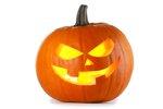 Glowing halloween pumpkin...