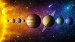 Solar system planet  comet  sun ...